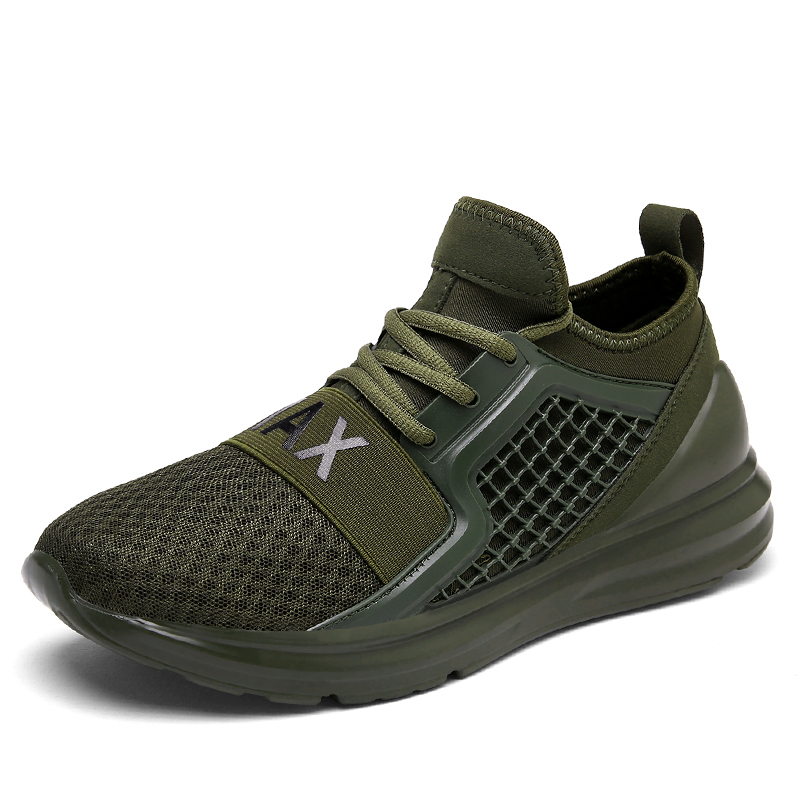 breathable running shoes for man black white sport shoes. Black Bedroom Furniture Sets. Home Design Ideas