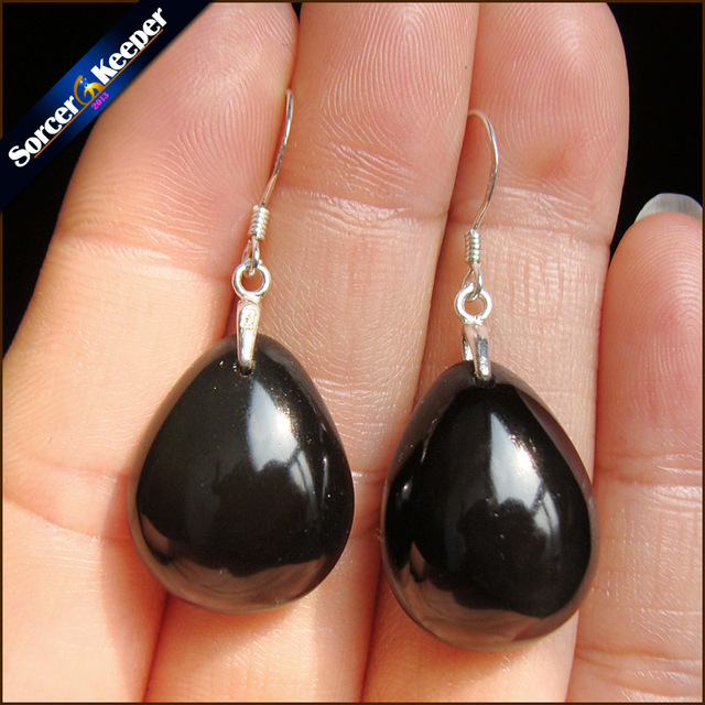 be669957e 925 Sterling Silver Hooks 100% Natural Rainbow Obsidian Stone Pendant  Vintage Dangle Fashion Earrings for