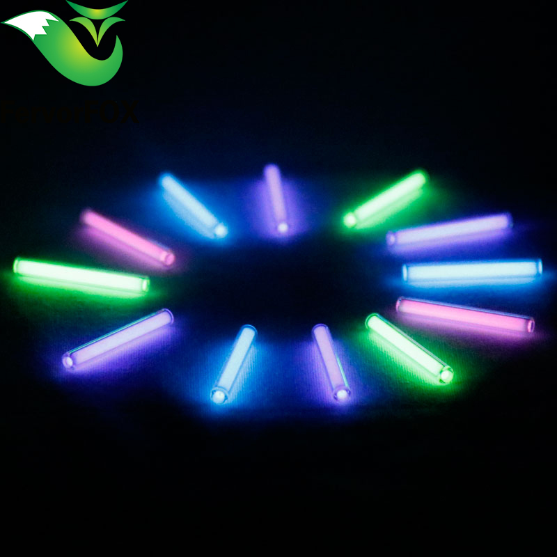 1pc 3mm*22.5mm Automatic light 25 years tritium keychain key ring fluorescent tube lifesaving emergency lights