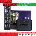 O envio gratuito de 6 Mês Mag250/Mag245 MAG250 IPTV subscrição de software com 1 PCS Originais/MAG245 MAG CAIXA de IPTV
