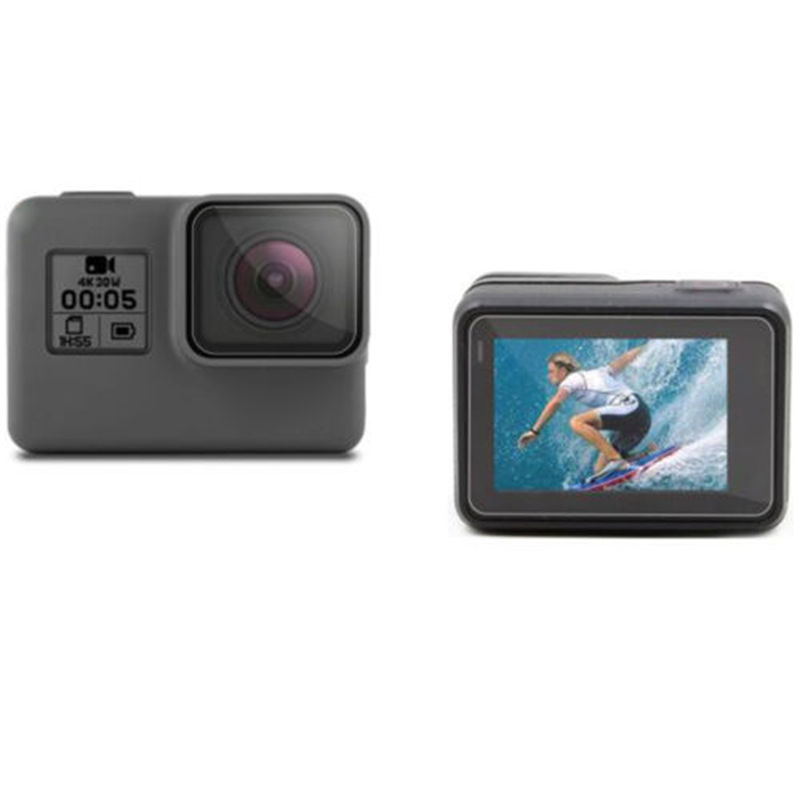 Image 5 - 2pcs Lens + Screen tempered glass Film Protector for GoPro Hero 5 6 7 Black Edition Hero 2018 Camera Lenses&Display Screen Film-in Screen Protectors from Consumer Electronics