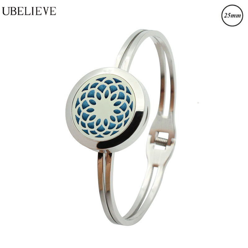 Fashion Jewelry Systematic 316l Stainless Essential Oils Aromatherapy Locket Diffuser Bangle Bracelet Gift Natural & Alternative Remedies