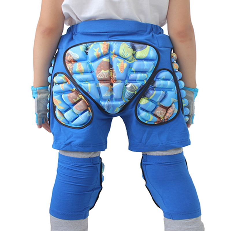 LumiParty Kids 3D Protection Hip EVA Paded Short Pants Gear Guard Pad Skiing Skating Snowboard Pants Butt Tailbone Protector