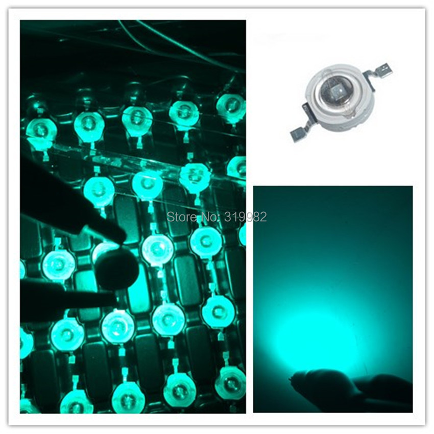 50 pcs 3W ice blue LED Chip Beads LED Lamp Diode Emitter Blue Green Lighting Source