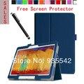 Ultra couro fino Folio magro PU Stand Case capa do livro para Samsung Galaxy Note 10.1 2014 edição Tablet P600 / P601 / P605 ( DB )