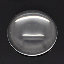 50Pcs Clear Glass Dome Seals Cameos Round Cabochons Embellishments Scrapbook Findings 16mm