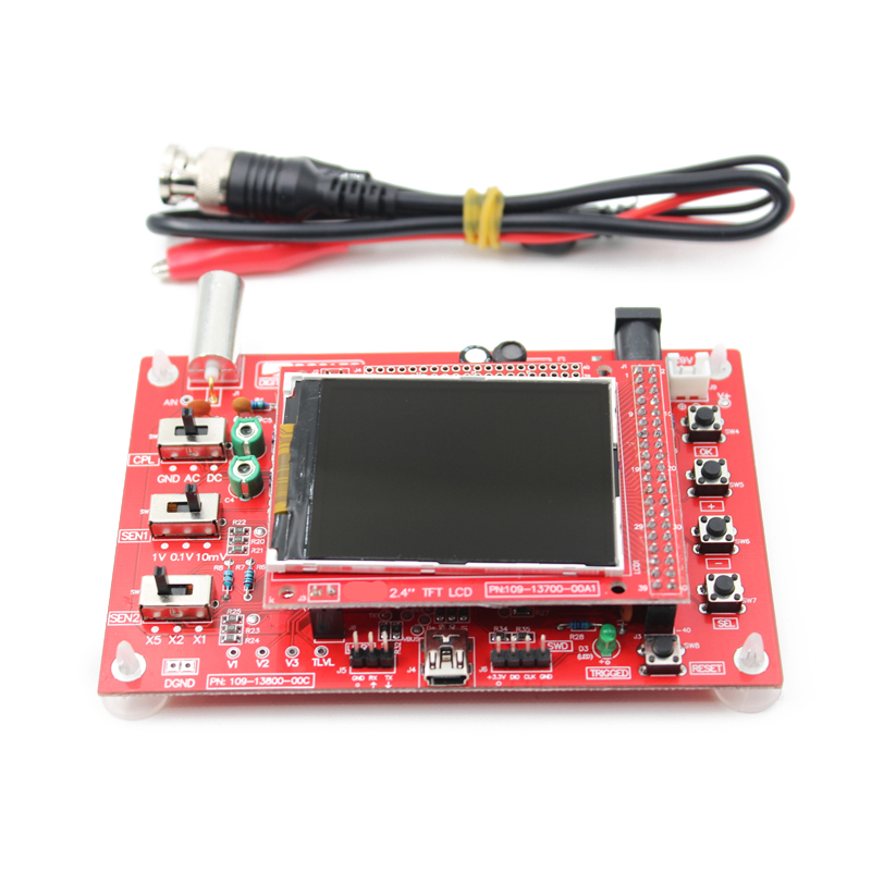 2018 Fully Assembled DSO138 2.4 TFT Digital Oszilloskop Kit with Probe dso138 2 4 tft выводы для пайки карманный размер цифровой осциллограф kit с зарядным устройством