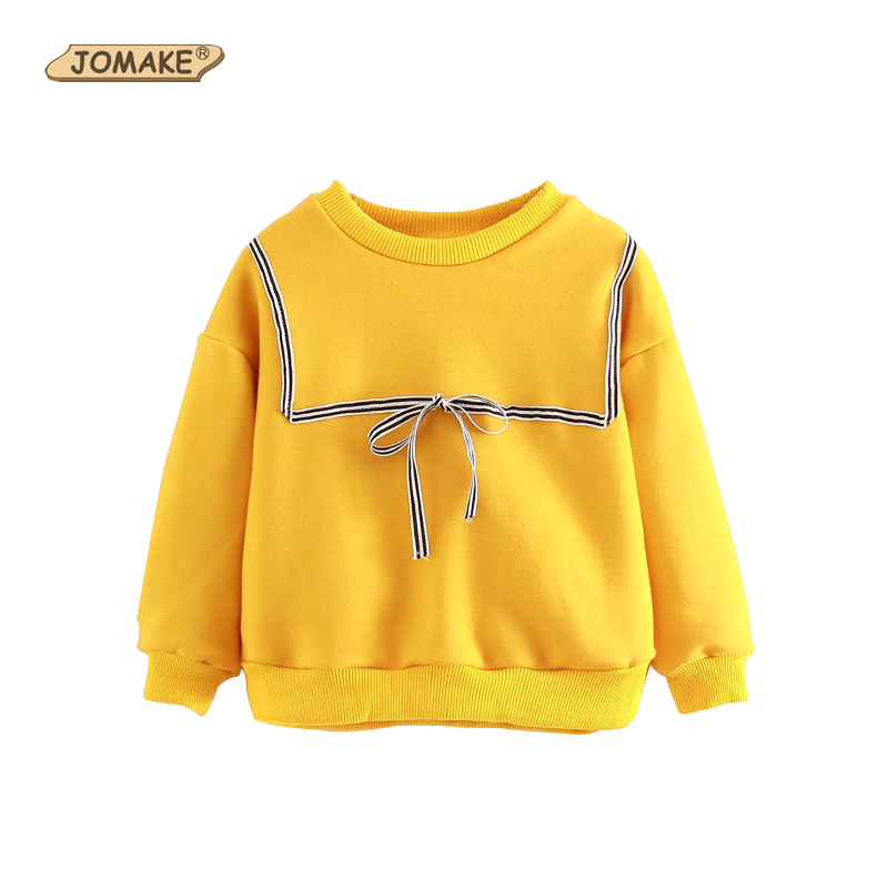 Girls Sweatshirts & Hoodies Autumn Casual Baby Girl Clothes Cute Striped Bow Fleece Children Tops Pullover Toddler Girl Clothing