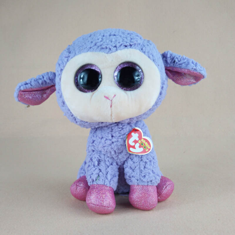 8745bf564b3 ... Plush Stuffed Animals Toys Dolls For Kids Gifts · 23cm Large Kawaii Ty  Beanie Boos Big Eyes Series Lamb Sheep Clover Leyla Lavender LaLa Blossom