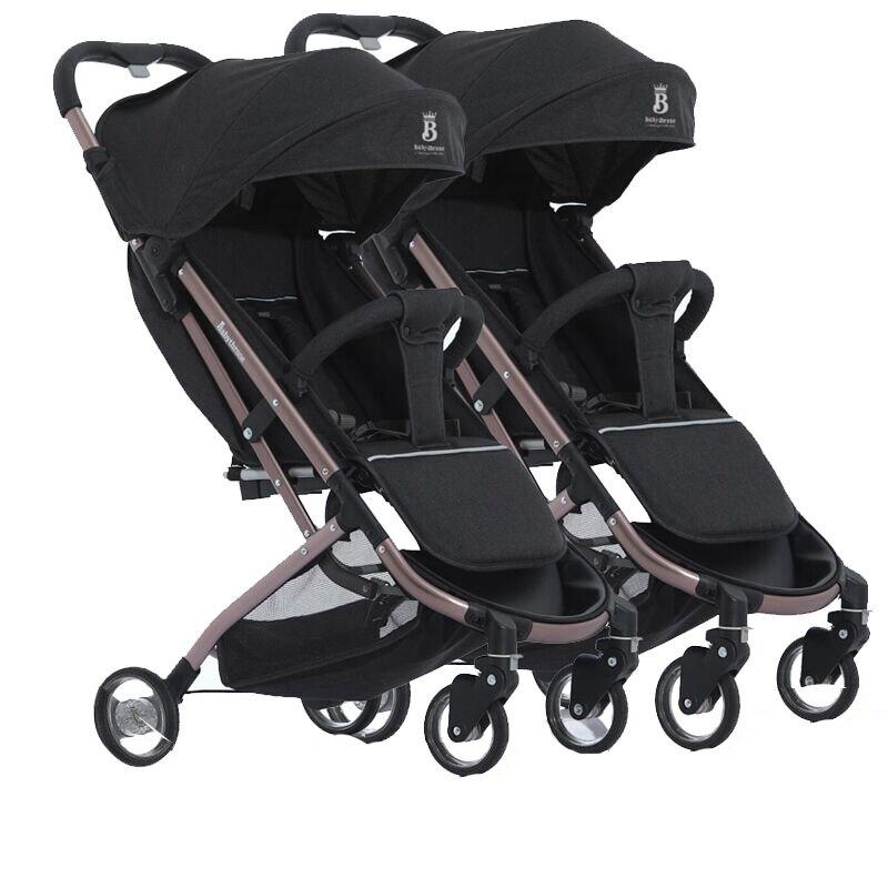 Babyfond Twins съемный легкий складной может сидеть и лежать детская коляска одна кнопка, чтобы собрать многоцветные дополнительно