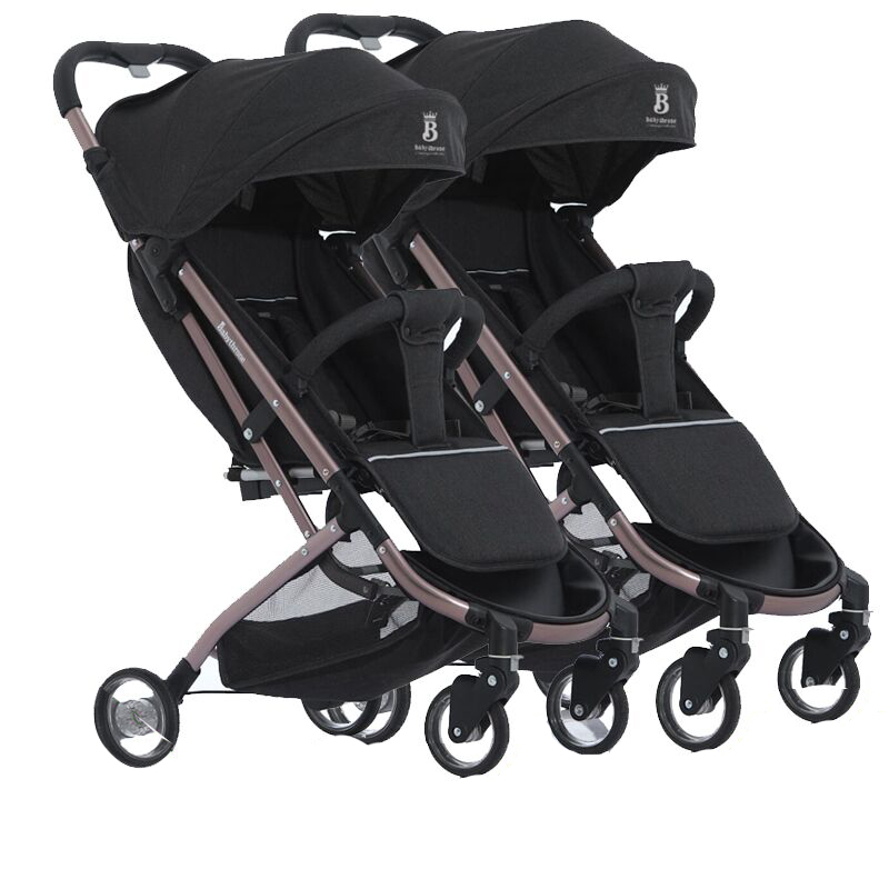 Babyfond Twins Detachable Lightweight Folding can Sit  and lie Baby Stroller One Button to Collect Multi-color OptionalBabyfond Twins Detachable Lightweight Folding can Sit  and lie Baby Stroller One Button to Collect Multi-color Optional