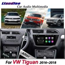 Liandlee автомобиля системы Android для Volkswagen Tiguan 2016 ~ 2018 радио USB gps BT Wi Fi Navi навигации HD стерео Мультимедиа без DVD