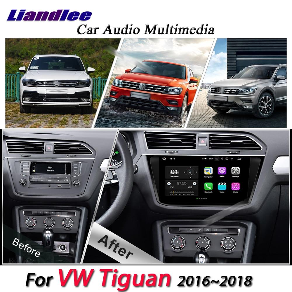 Liandlee Sistema Android Carro Para Volkswagen Tiguan 2016 ~ 2018 Radio GPS USB BT Wifi Navi Navegação HD Multimídia Estéreo não DVD