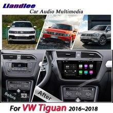 Liandlee Auto Sistema Android Per Volkswagen Tiguan 2016 ~ 2018 USB della Radio GPS BT Wifi Navi di Navigazione HD Stereo Multimediale no DVD