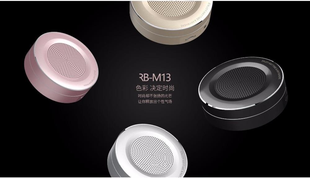 REMAX M13 metallist traadita Bluetoothi mini kõlari tugi - Kaasaskantav audio ja video - Foto 1