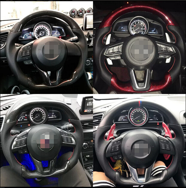 Mazda 3 Wheels >> Us 297 6 7 Off Car Modification Parts Carbon Fiber Racing Steering Wheel For Mazda 3 Axela Cx4 Cx5 In Steering Wheels Steering Wheel Hubs From