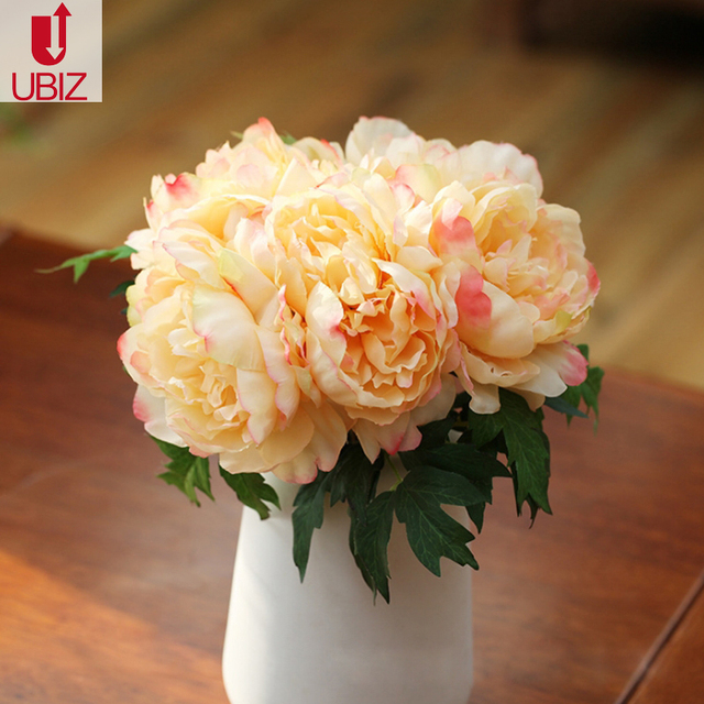 Eternal Peony Peonia Silk Organza Flower Wedding Centerpiece Bridal