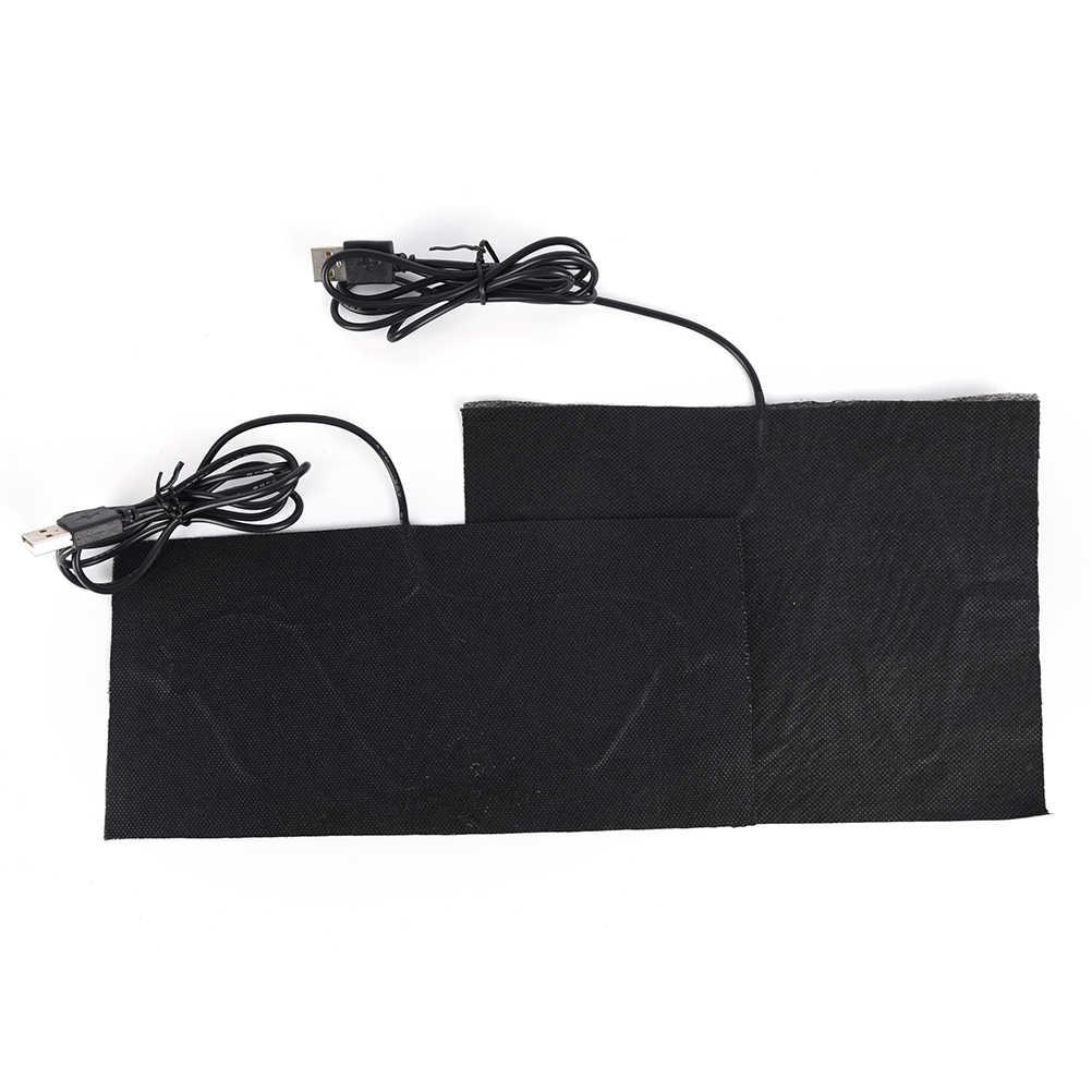 1 sztuk 2 rozmiary 5V ogrzewacz dłoni USB folia grzewcza elektryczna zimowa gorączka podczerwieni mata grzewcza poduszka elektryczna z włókna węglowego