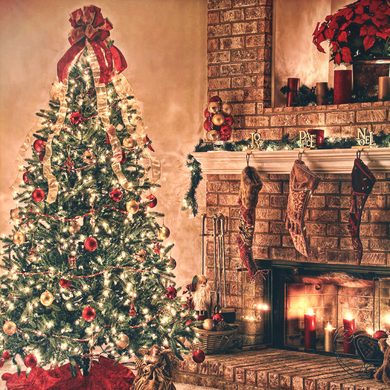 5x8ft photo background photography christmas backdrop christmas tree fireplace digital printing backgrounds cm 6335 in background from consumer electronics