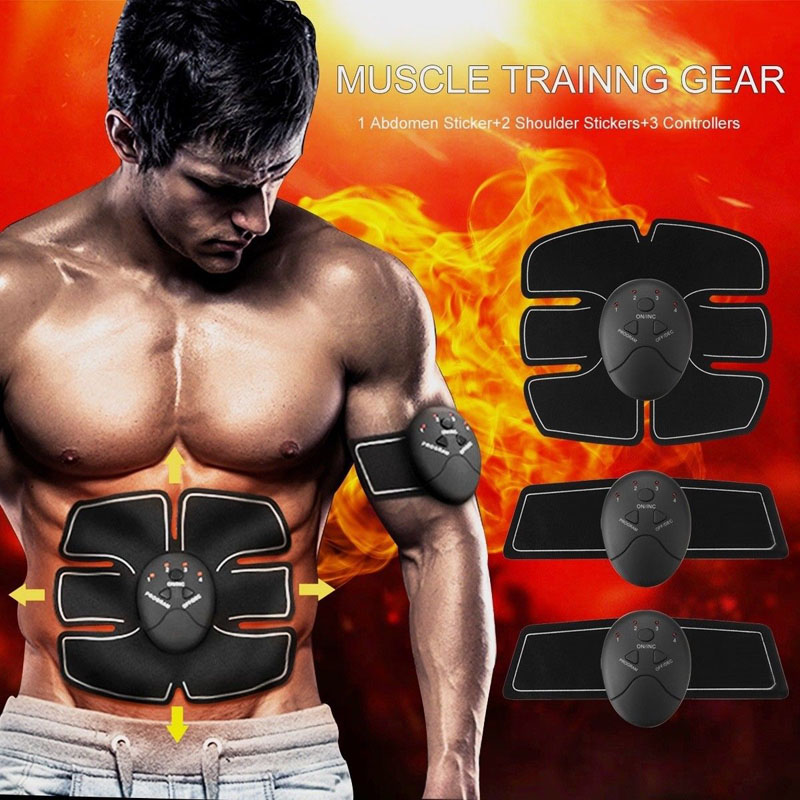 2018 EMS Muscle Stimulator Abdominal Machine Electric ABS Wireless Trainer Fitness Weight Loss Body Slimming Massage Retail box 5