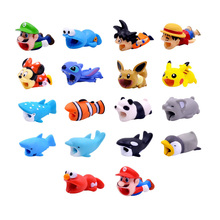 CHIPAL Bite Animal Cable Protector Wire Winder for iPhone USB Charger Data Cable Organizer Cartoon Bites Phone Holder Accessory