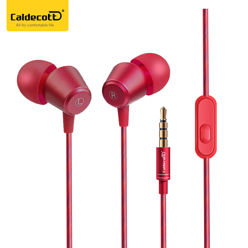 Original Caldecott KDK-207 In-Ear earphone special metal high quality heavy bass sound With microphone for all phone xiaomi golden brass kitchen faucet dual handles vessel sink mixer tap swivel spout w pure water tap