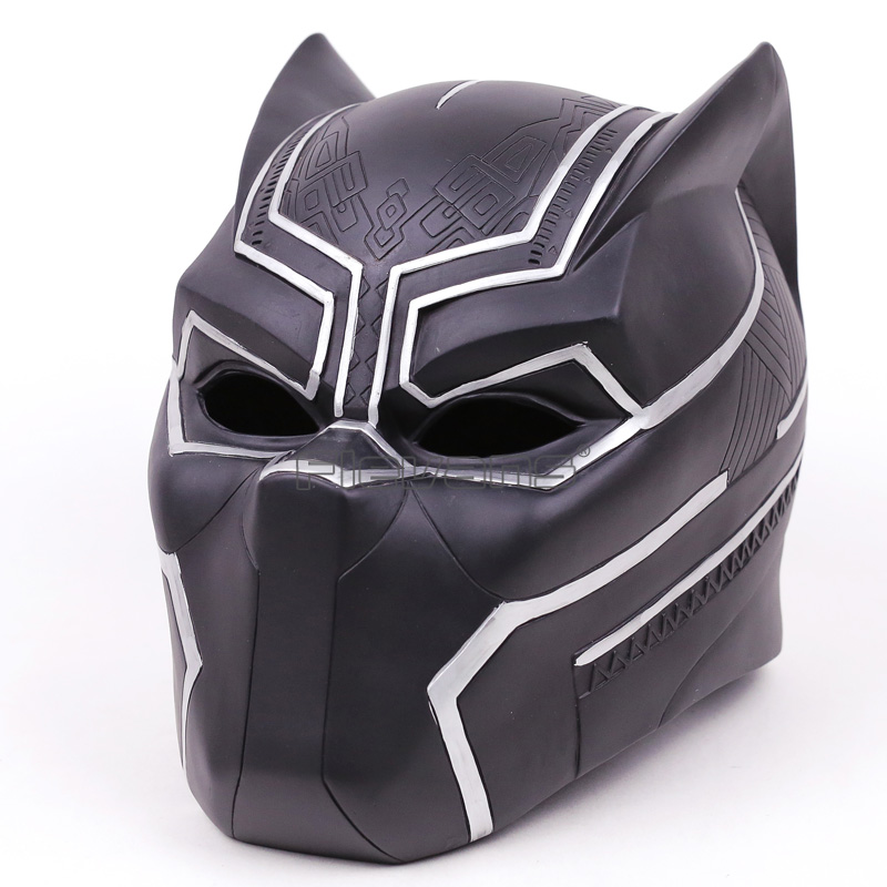 Marvel Super Hero Black Panther Adult Helmet Hallowmas Party Cosplay Mask PVC Figure Toy 1:1 captain america civil war black panther helmet 1 1 scale hallowmas party cosplay helmet black panther pvc action figure kids toy
