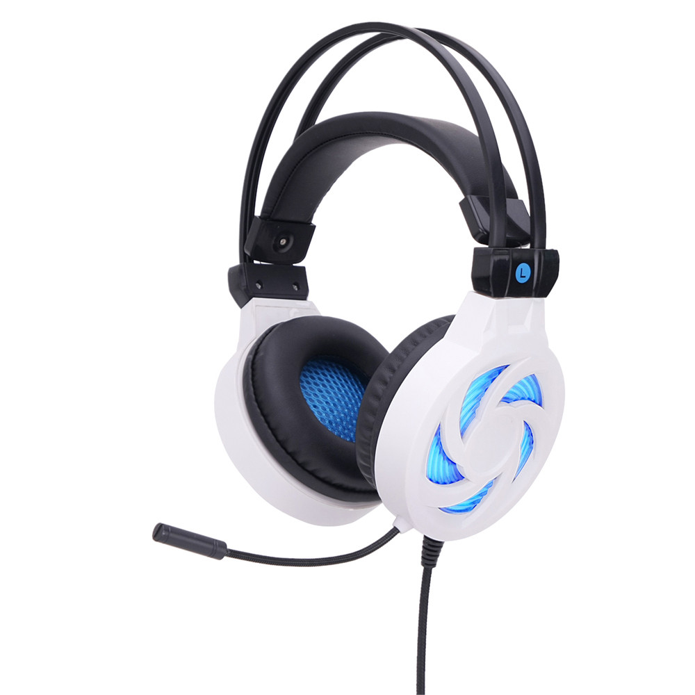 Gaming Headphones  Surround Stereo Gaming Headset Headband Headphone USB 3.5mm LED with Mic for PC Headphones @tw