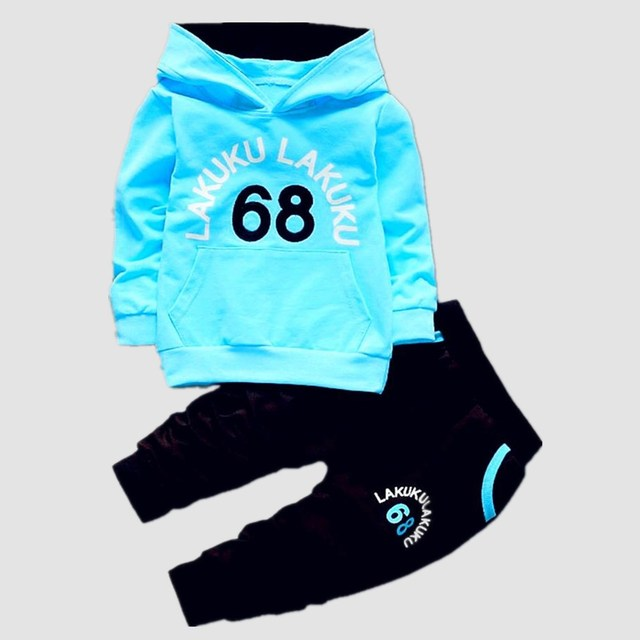 Kinderen Trainingspak Kids Kleding Sets Baby Jongens Meisjes Mode Sport Past Hoodies Sweatshirts + Broek Merk Jas Jongen Kleding