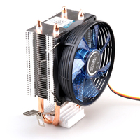Refrigerador de la cpu de Cobre tubo de calor de doble CPU radiador latón torre ventilador de la cpu para INTEL 775/1150/1155/1156 AMD 754/939/AM2/AM3