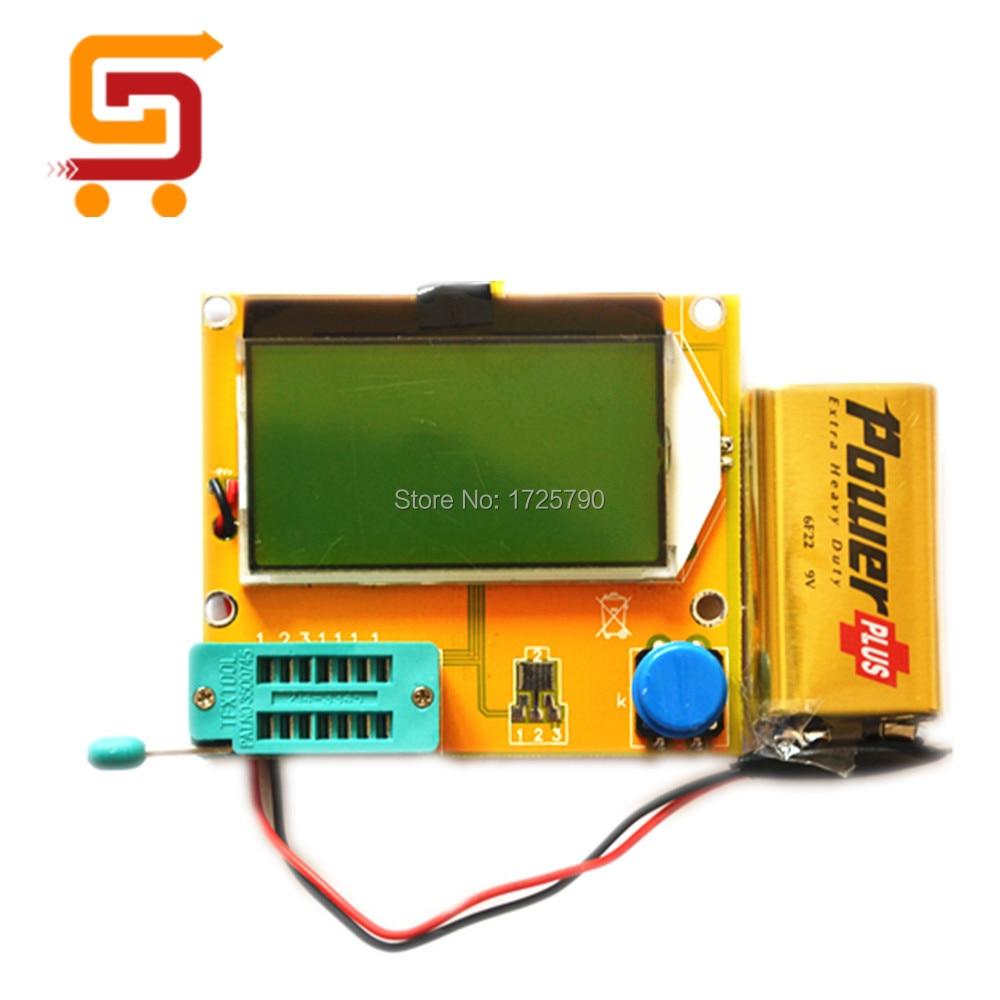 Transistor Tester LCR-T4 LCD Graphical Transistor Inductor Condensador ESR Medidor Multifunci/ón con Soporte de Bater/ía