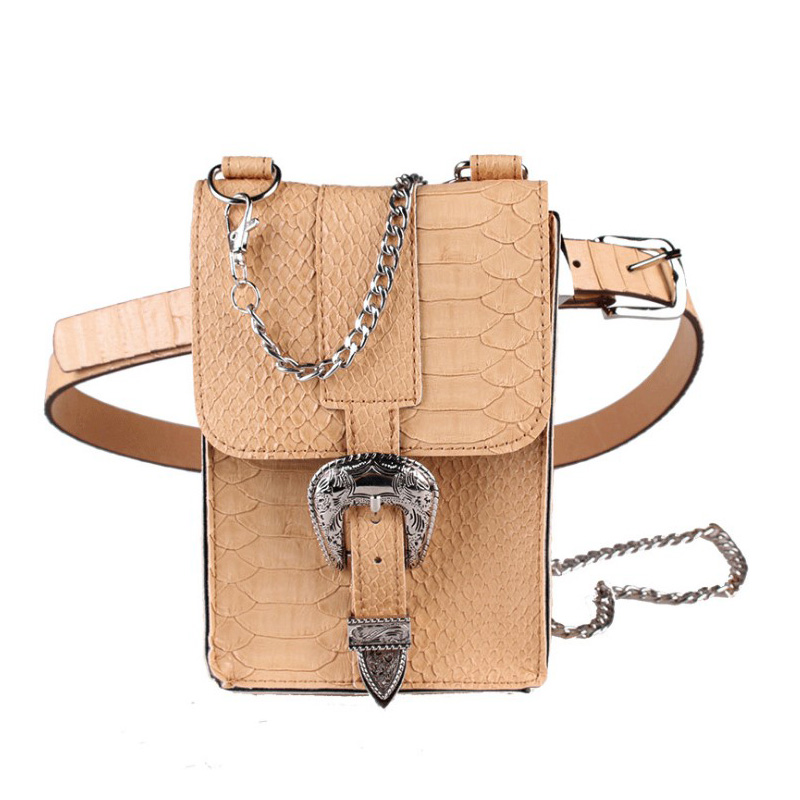 High Quility Women Waist Bag Crocodile Leather Fanny Pack Vintage Waist Belt Bags Fashion Shoulder Bag Sling Packs Two Belt A35