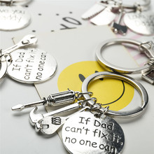 "1PC  ""If Dad Can't Fix It No One Can"" Hand Tools Keychain Daddy Key Rings Gift for Dad Fathers Day, Father Key Chain Accessories"