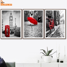 London Big Ben City Street Landscape Wall Art Canvas Painting Nordic Posters And Prints Pictures For Living Room Home Decor
