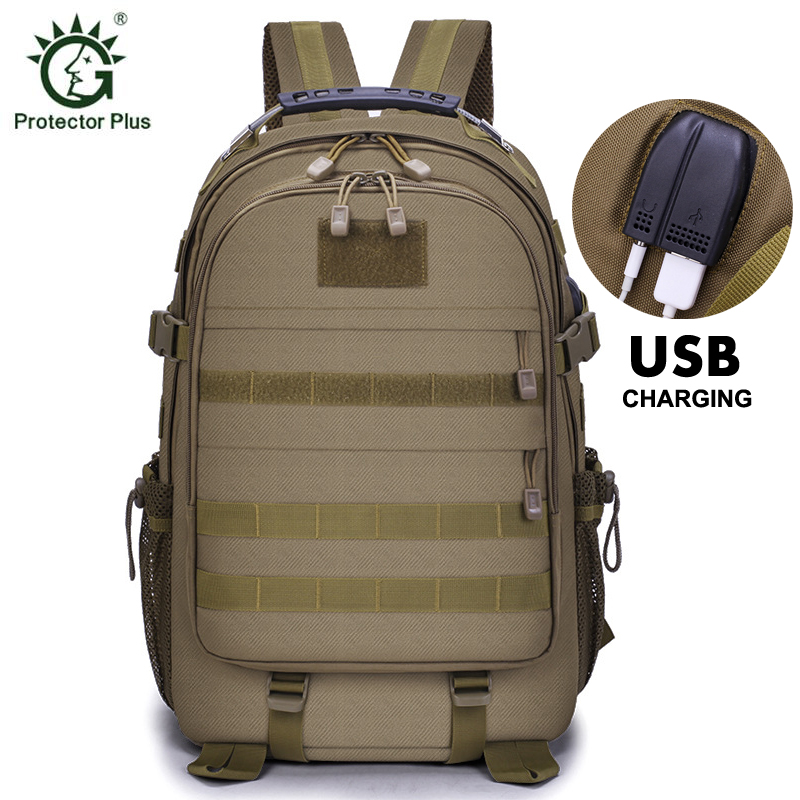 35L 40L Tactical Backpack Men 15 Inch Laptop USB Charging Army Bag Large Capacity Water Resistant