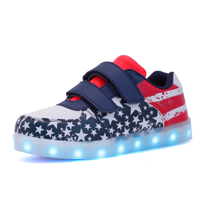 Image 5 - Size 25 37 USB Children Light Shoes Kids Luminous Sneakers for Boys&Girls Led Shoes Krasovki with Backlight Lighted ShoesSneakers   -
