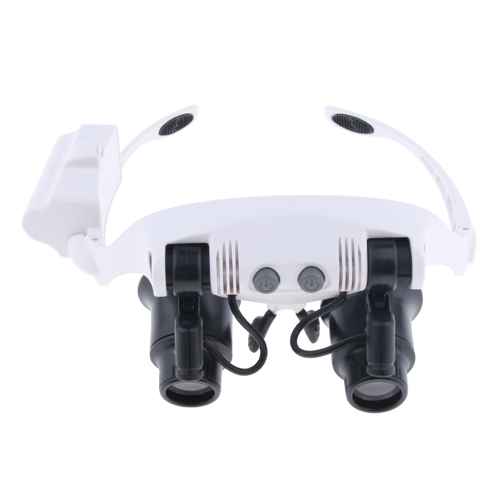 9892GJ-3A LED Headband Magnifier Magnifying Jewelry Repair Eye Loupe Glasses for Camping Hiking Travell Accessories