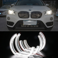 LED Angel Eyes For BMW DRL 3D DTM LCI M4 Style For BMW E90 E92 F30 F31 E60 E82 E87 M5 Turn Signal Accessories White Yellow