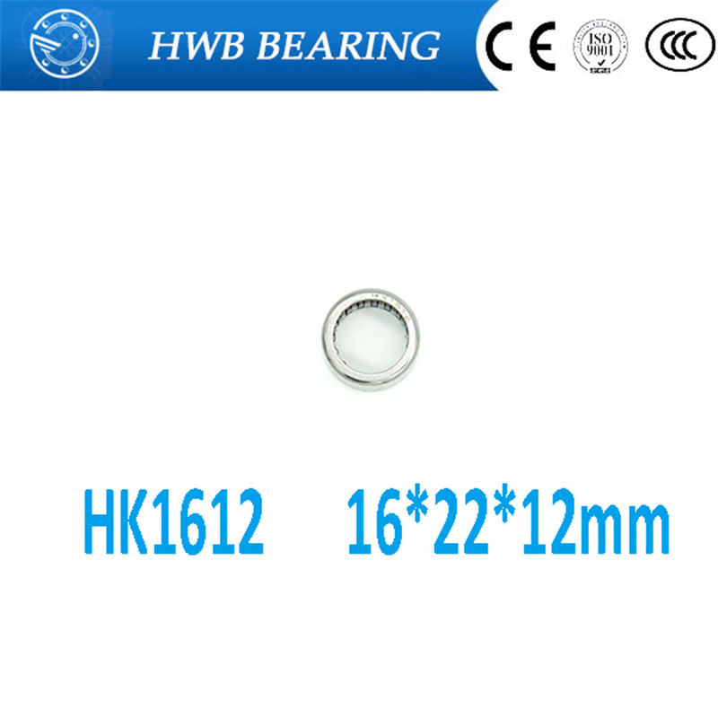10Pcs HK162212 HK1612 37941/16 Drawn Cup Type Needle Roller Bearing 16 x 22 x 12mm Free shipping High Quality
