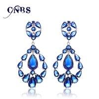 Zirconia Pendientes de Flash de Moda de Lujo de alta Calidad CZ Pendientes de Cristal Borla Grande de Largo Para Las Mujeres E10068