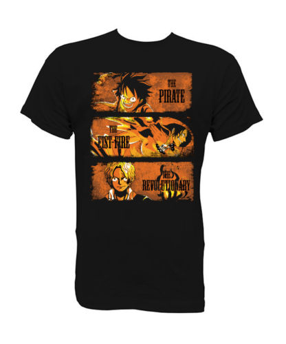 Camiseta t-shirt 3 Hermanos One piece Luffy Ace Sabo XS-S-M-L-XL Mens 2018 fashion Brand T Shirt O-Neck 100%cotton T-Shirt Tops