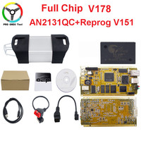 2018 Newly V178 Can Clip Full Chip CYPRESS AN2131Q+Reprog V151 OBD2 Diagnostic Interface CAN Chip With Gold Side PCB