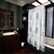 Кружево Водонепроницаемый Ванная комната цветочный принт для ванной душ шторы лайнер нетоксичный водостойкий с крючками