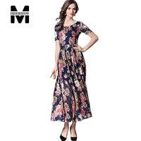 Merderheow New European 2017 Summer Women S Bohemian Lace Print Long Dresses Femme Casual Sashes Clothing