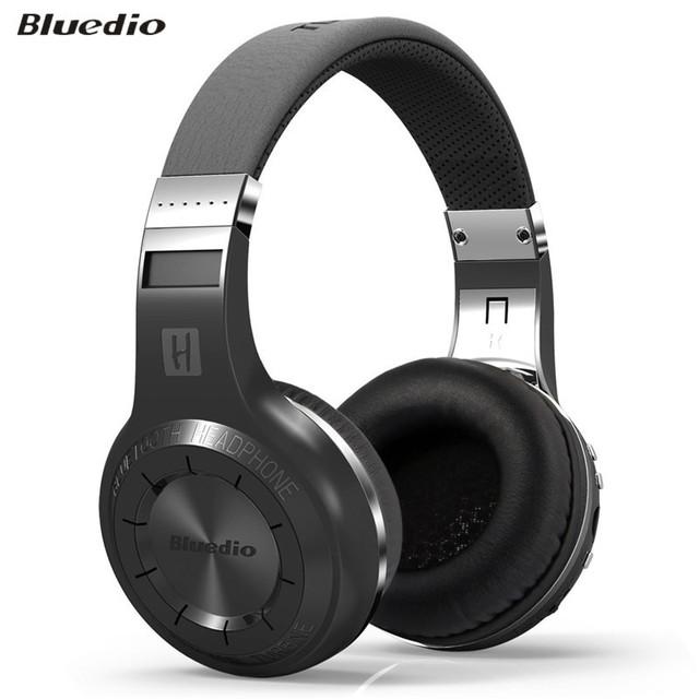 Bluedio h + plus audio auriculares bluetooth auricular estéreo x-bass auricular de la computadora pc inalámbrico auriculares con micrófono inalámbrico