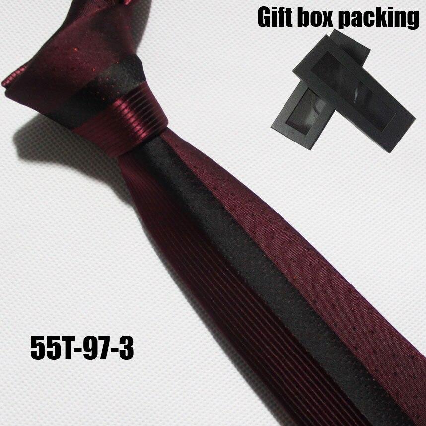 Lingyao дизайнерский галстук на панель, отличное качество, тканый галстук для жениха, свадебный красный с черными полосками и точками в подарочной коробке - Цвет: Белый
