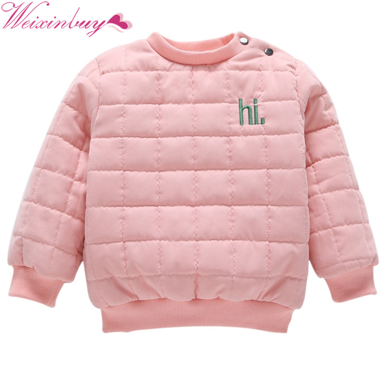 Super Soft Crew-necks Tops Coat Baby Full Sleeve Outwear Kids Boys Girls Warm Winter Pullover Cotton Keep-Warm Sweater Clothes