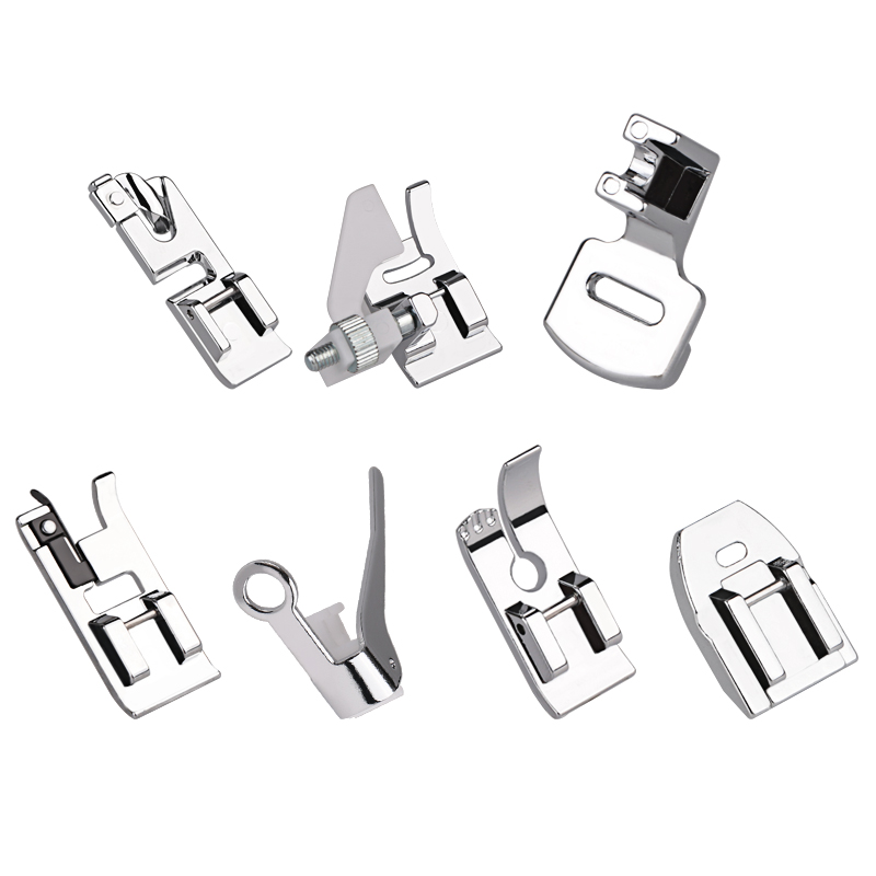 8Pcs Domestic Sewing Machine Braiding Blind Stitch Darning Zipper Overcast Presser Foot Kit Set Home Sewing Accessories Parts