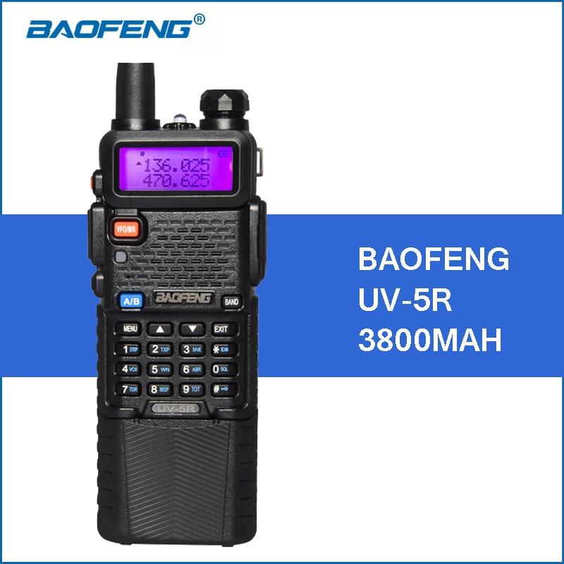 Baofeng UV-5R Walkie Talkie 3800mAh 5W VHF UHF Dual Band Handy UV5R Portable Walkie Talkie Two Way Ham CB Radio Communicator