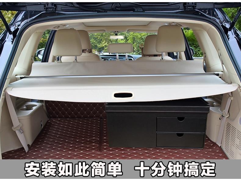 Алюминиевый сплав + ткань задний багажник защитный щит грузовой Чехол для Ford Everest Endeavour 4Dr SUV 2015 2016 2017